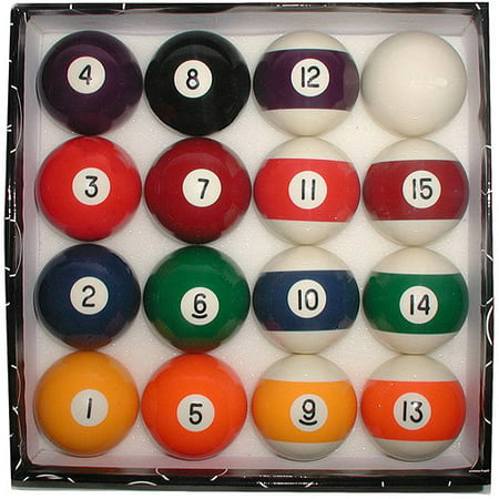 Billiard Cue Ball Glass - Deluxe Billiard Pool Balls Set