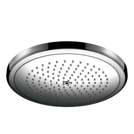 Hansgrohe 26217 Croma 1.8 GPM Single Function Rain Shower Head with Quick Clean and Eco Right Technologies