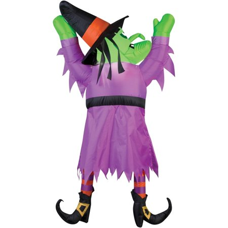 Witch From the Roof Airblown Halloween Decoration - Halloween To And From Tags