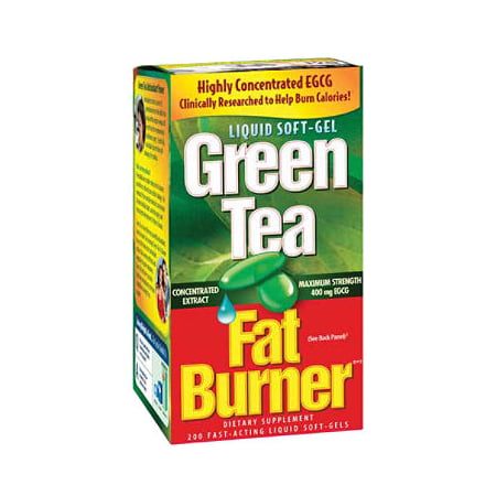 Applied Nutrition Green Tea Fat Burner Softgels, 200 Ct - L-tyrosine Fat Burner