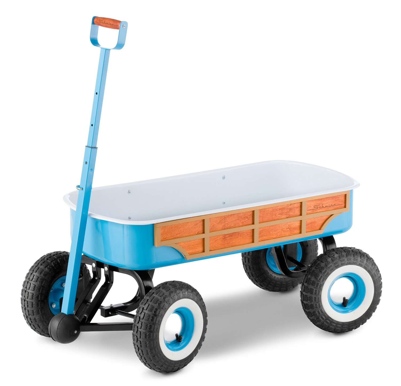 Pacific Cycle Schwinn Quad Steer Woody Wagon - Light Blue...