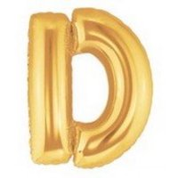 40 Inch Megaloon Gold Letter D Balloons - Wholesale