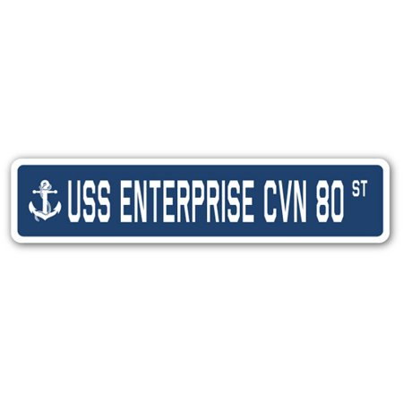 USS ENTERPRISE CVN 80 Street Sign us navy ship veteran sailor (Enterprise Single Sign On Service Not Found)