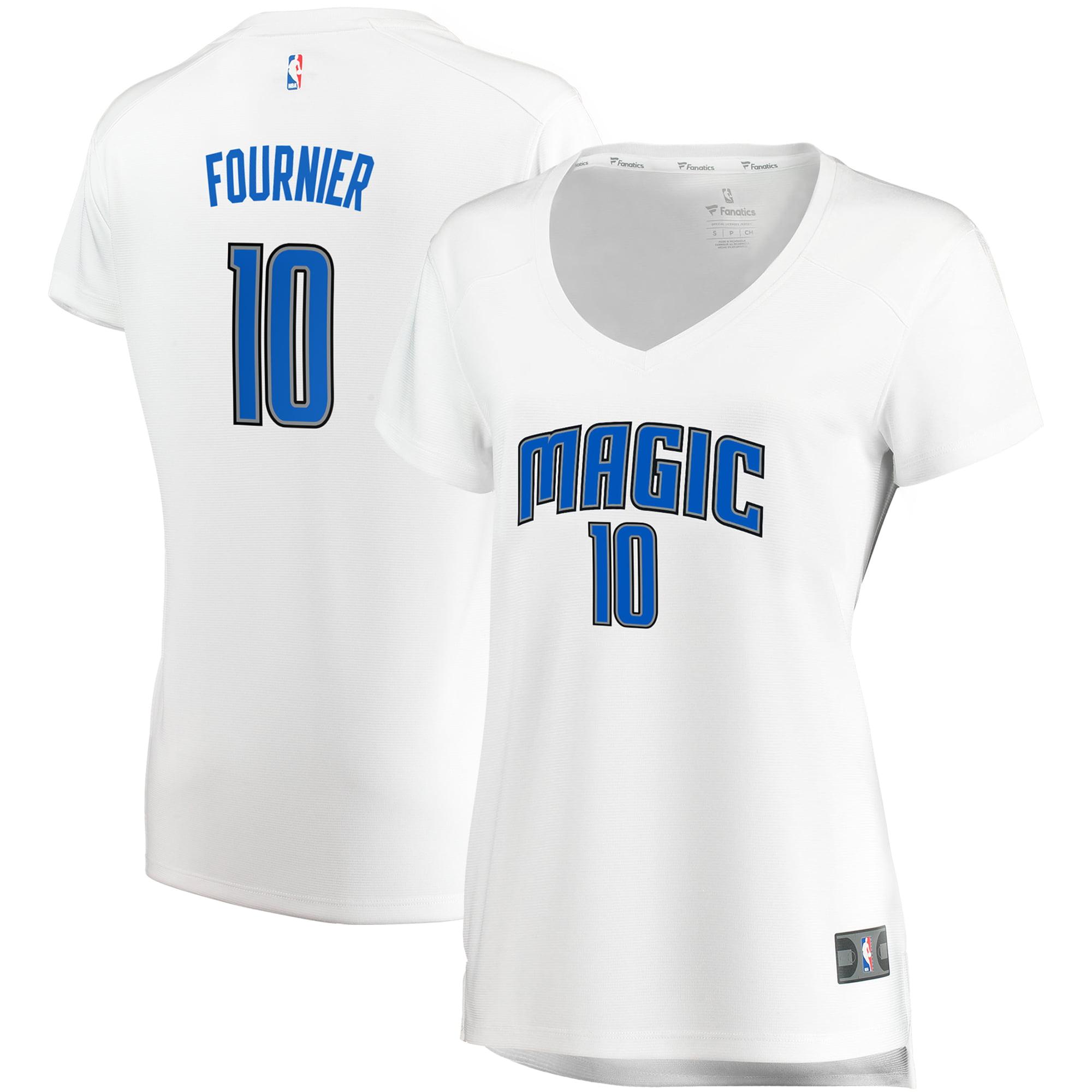 Evan Fournier Orlando Magic Fanatics Branded Women's Fast Break Replica Jersey White - Association Edition