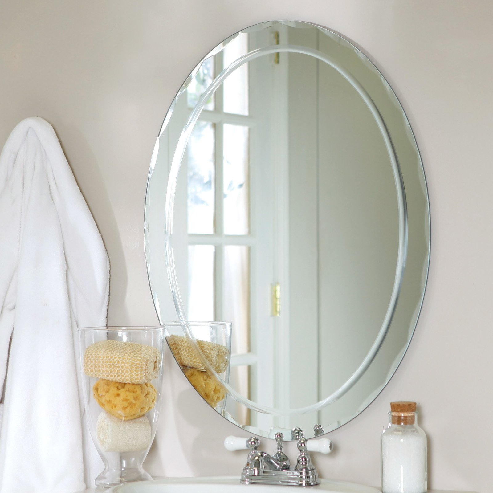 Décor Wonderland Frameless Aldo Wall Mirror - 23.5W x 31.5H in ...
