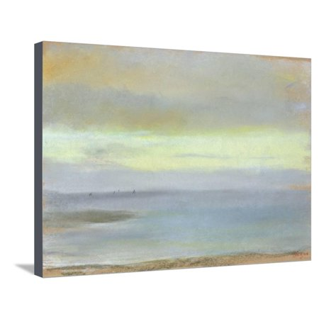 Marine Sunset, C.1869 Coastal Ocean Landscape Stretched Canvas Print Wall Art By Edgar Degas