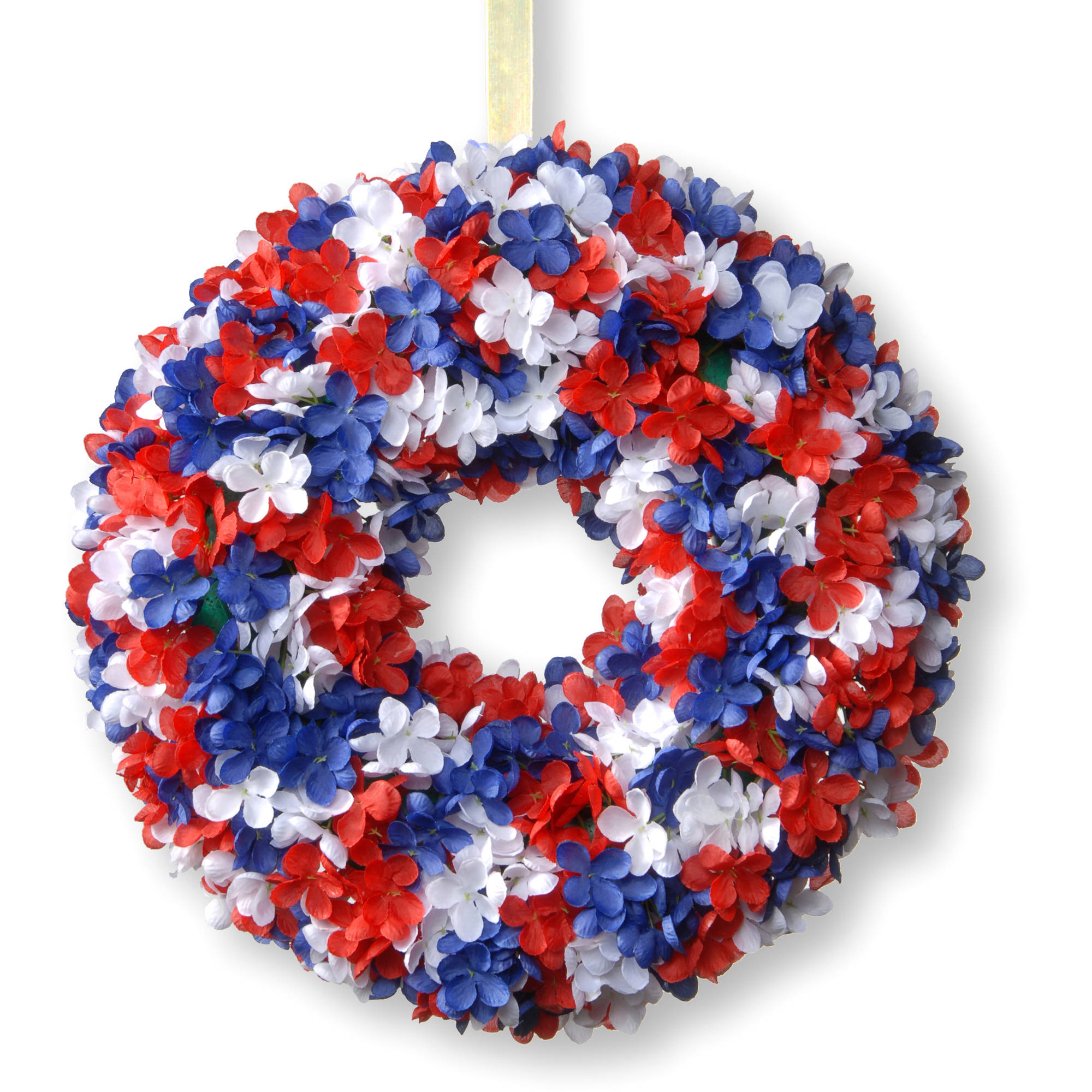 """National Tree Artificial 14"""" Patriotic Hydrangea Wreath"""