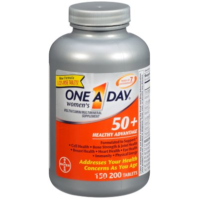 One A Day Women's 50+ Healthy Advantage Multivitamin & Mineral Supplement 200 ct