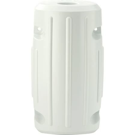 Attwood 93533-1 Softside UV-Resistant Marine 15-Inch Slide-On Post Dock Fender, White ()