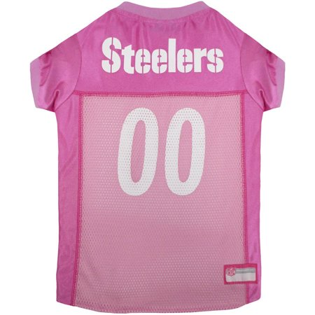 - Pets First NFL Pittsburgh Steelers Pet Pink Jersey, 4 Sizes Available