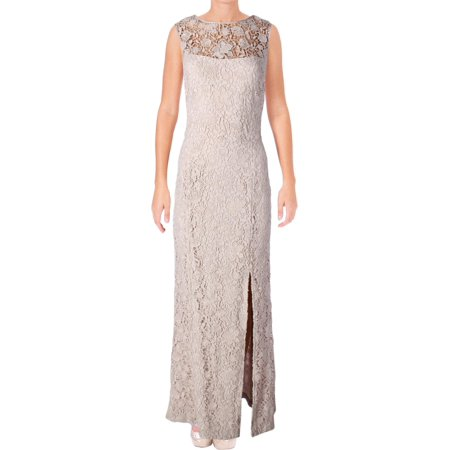 Lauren Ralph Lauren Womens Full-Length High-Neck Formal Dress