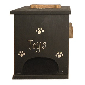 Furniture Barn USA™ Primitive Rustic Wooden Doggie Toy Box