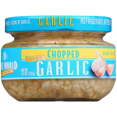 Spice World Chopped Garlic, 4.5 oz