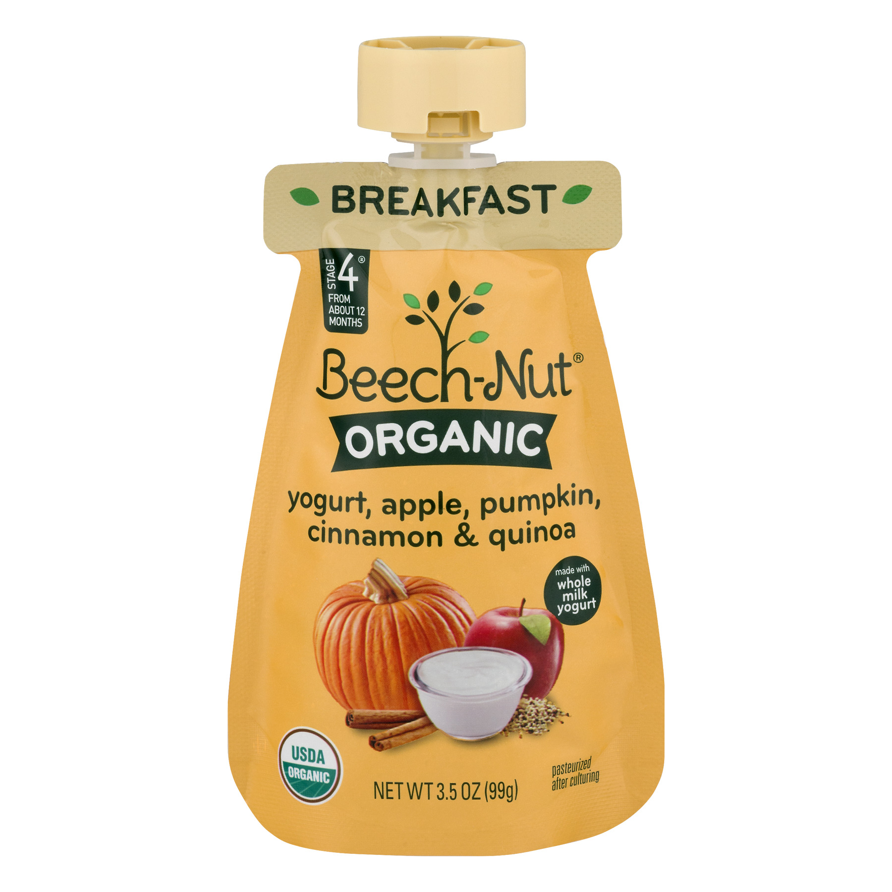 Beechnut Organic Yogurt Apple Pumpkin Cinnamon Quinoa