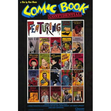 Comic Book Confidential Movie Poster Print  27 X 40