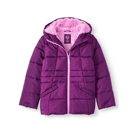 Wonder Nation Girl's Quilted Bubble Jacket (Little Girls, Big Girls & Plus) (Quilted Kids Jacket)