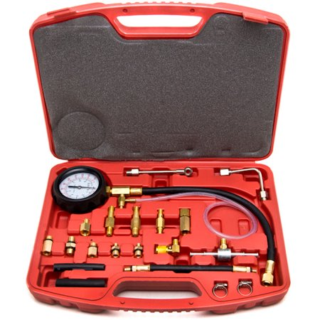 Biltek 0-140 PSI Fuel Injection Pump Injector Tester Test Pressure Gauge Gasoline -