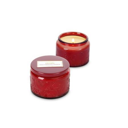 Voluspa Goji & Tarocco Orange Petite Glass Candle in Colored Jar w/Lid 3.2 oz (Coloured Candle)