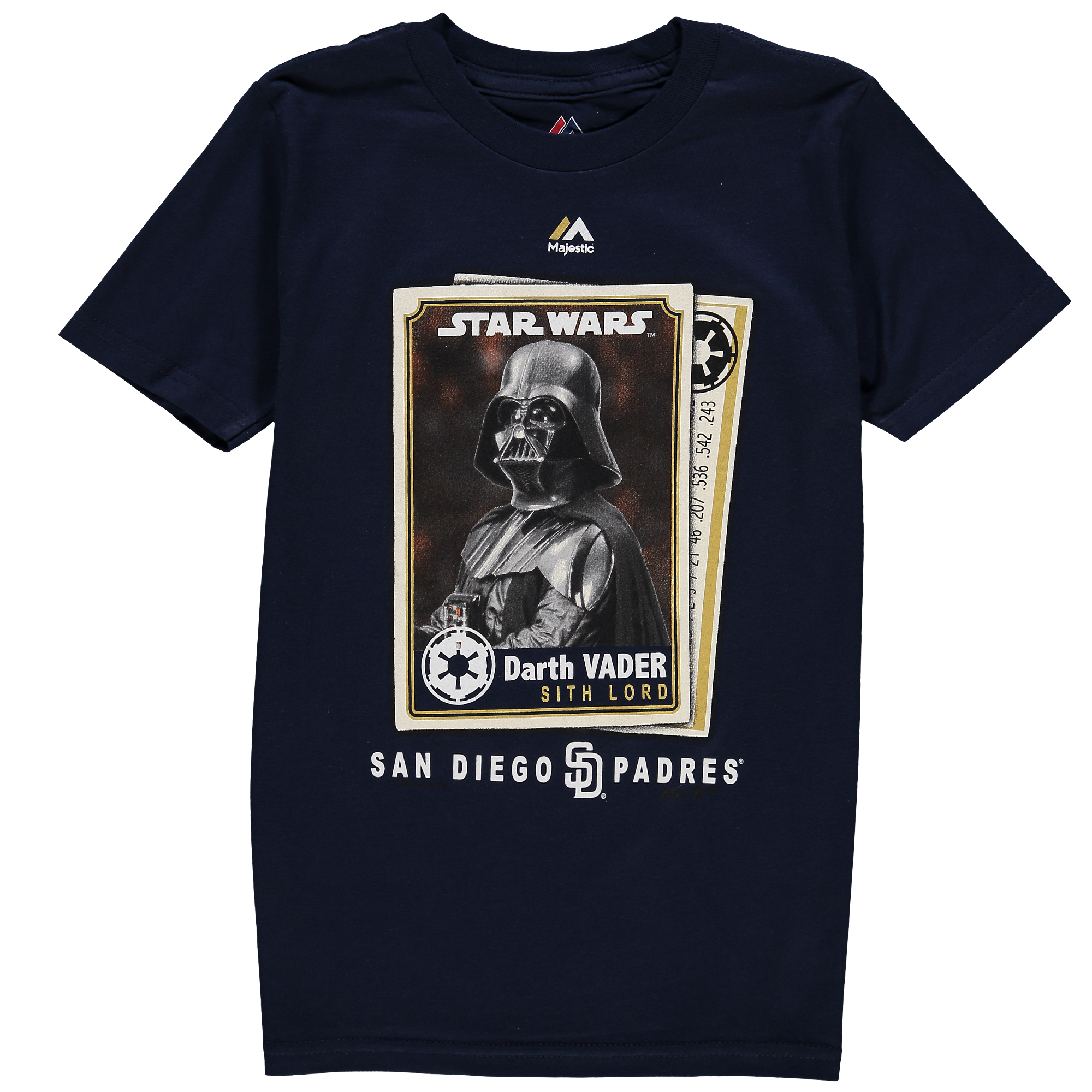 San Diego Padres Majestic Youth Star Wars Card T-Shirt - Navy