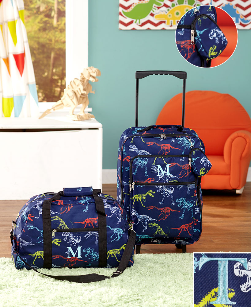 3-Pc. Boys' Monogram Luggage Set T