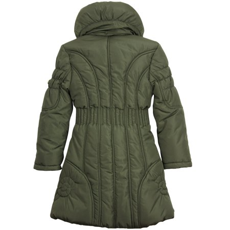 Le Chic Girl's Puffer Coat Olive, Sizes 4-14 - 104/4 - image 1 of 2