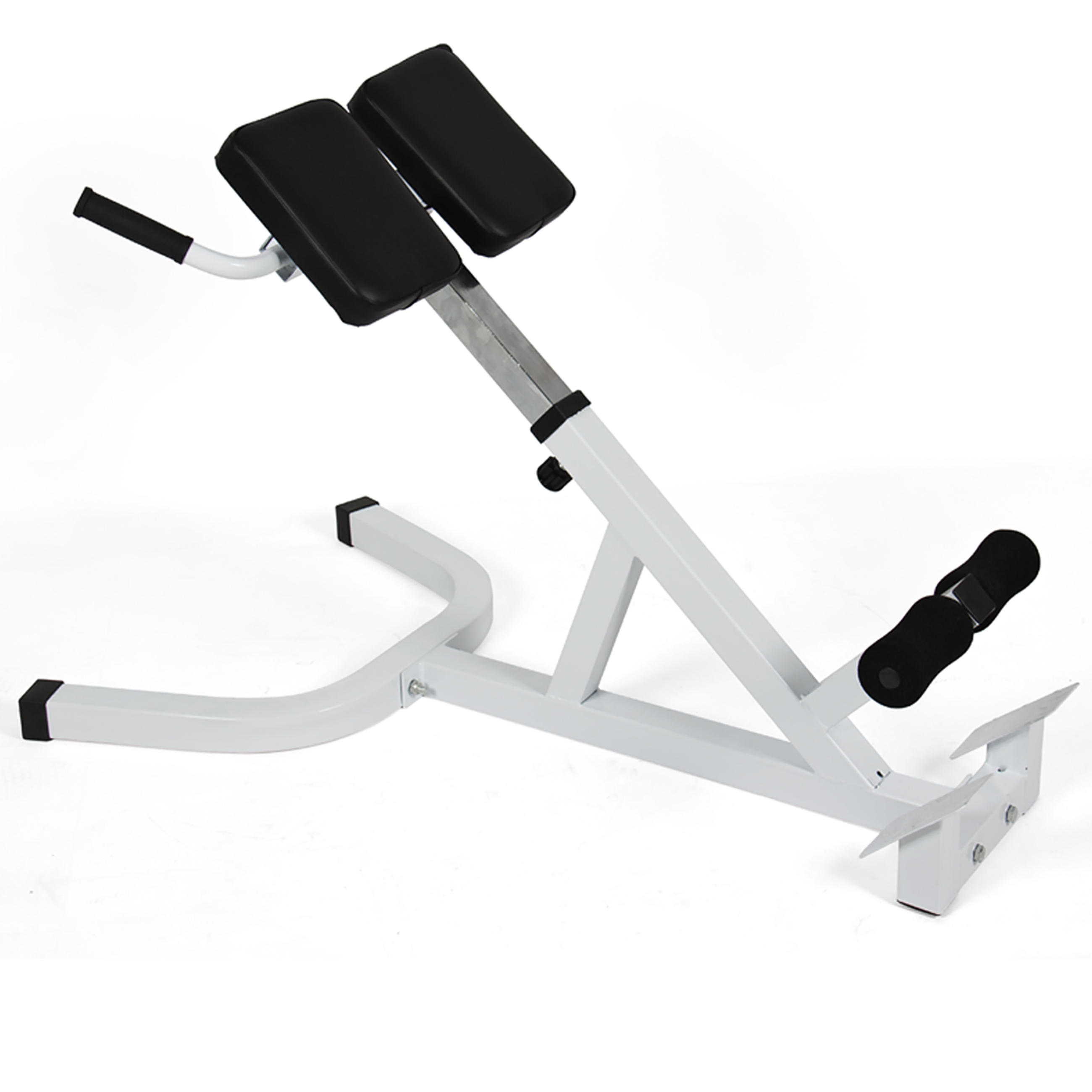 Best Choice Products Adjustable Roman Chair Ab Bench w/ 45 Degree Hyperextension for Gym, Training, Exercise - Black/Gray