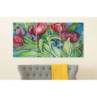 Safavieh Nouveau Tulips Triptych Wall Art, Assorted