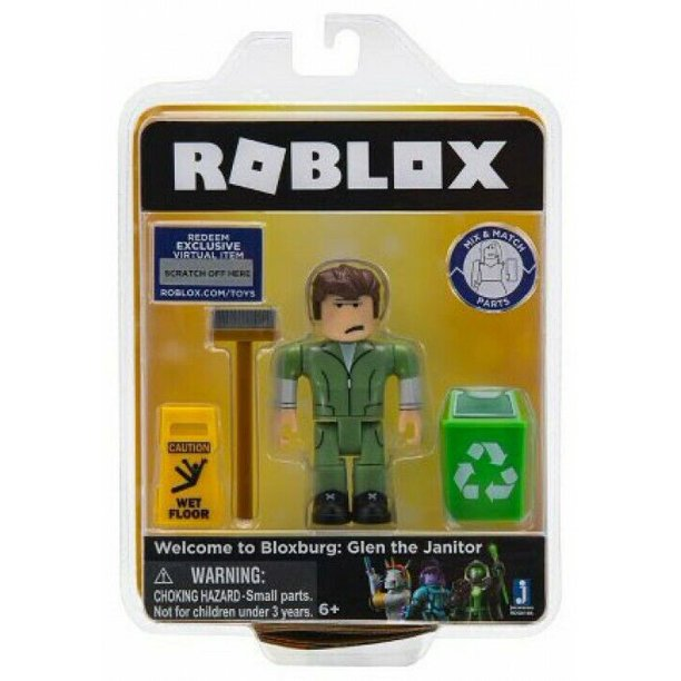 Roblox Welcome To Bloxburg Glen The Janitor Action Figure