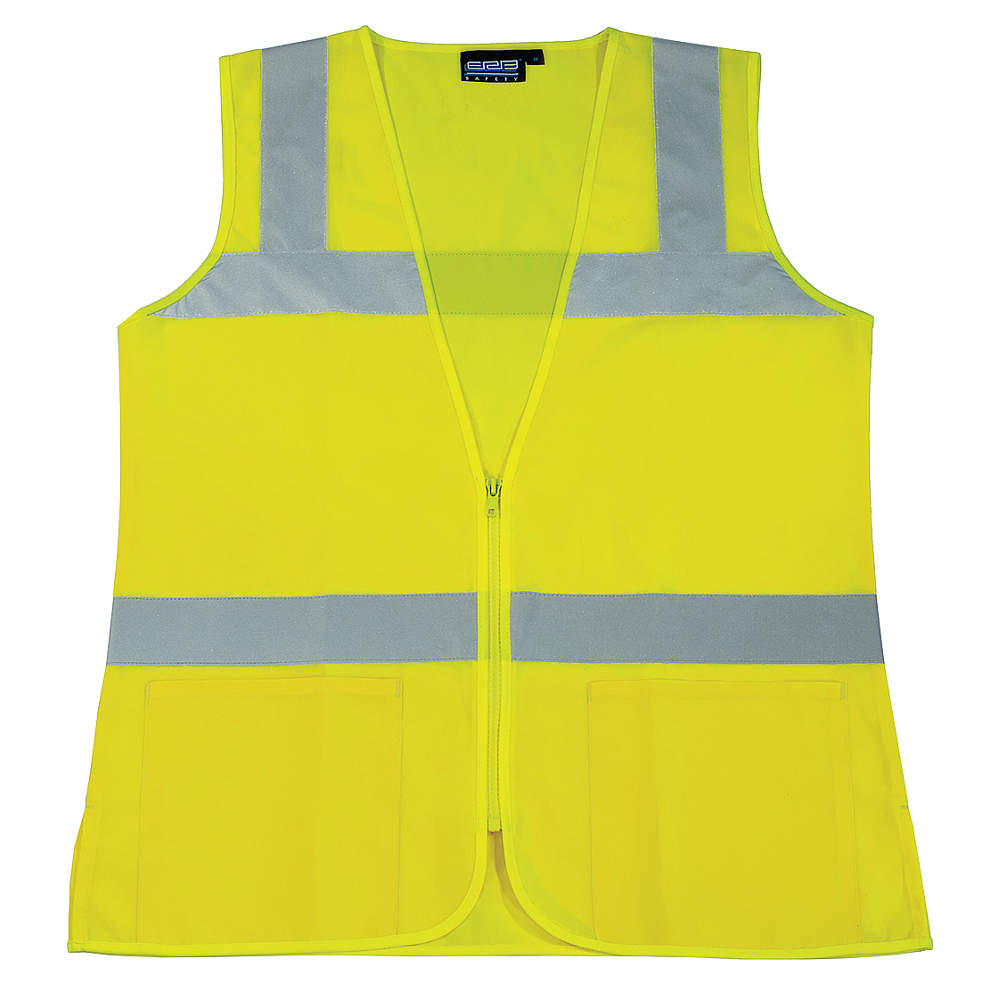 ERB SAFETY High Visibility Vest, Class 2, Lime, M S720  61916