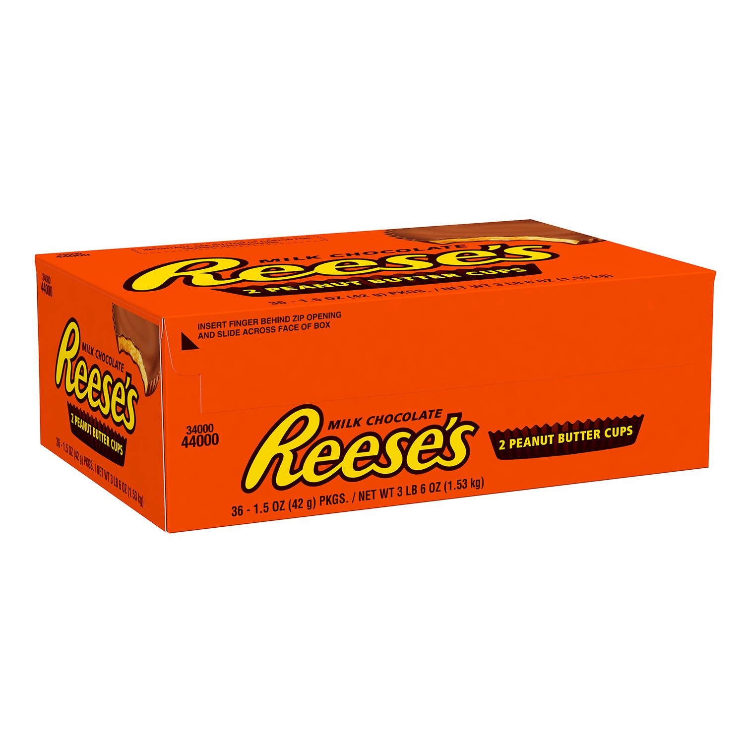 Reese's, Milk Chocolate Peanut Butter Cups, 1.5 Oz, 36 Ct