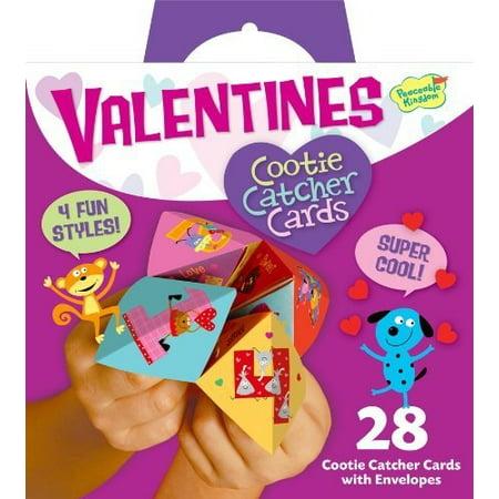 peaceable kingdom funny valentine 28-card super packs, in cootie catcher - Halloween Cootie Catchers