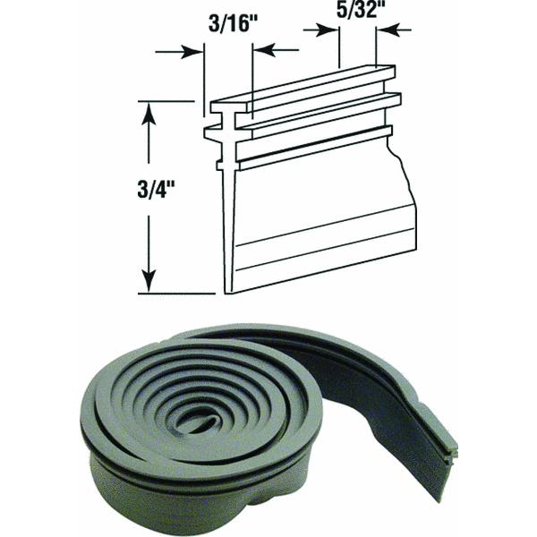 slideco shower door bottom seal 36inch