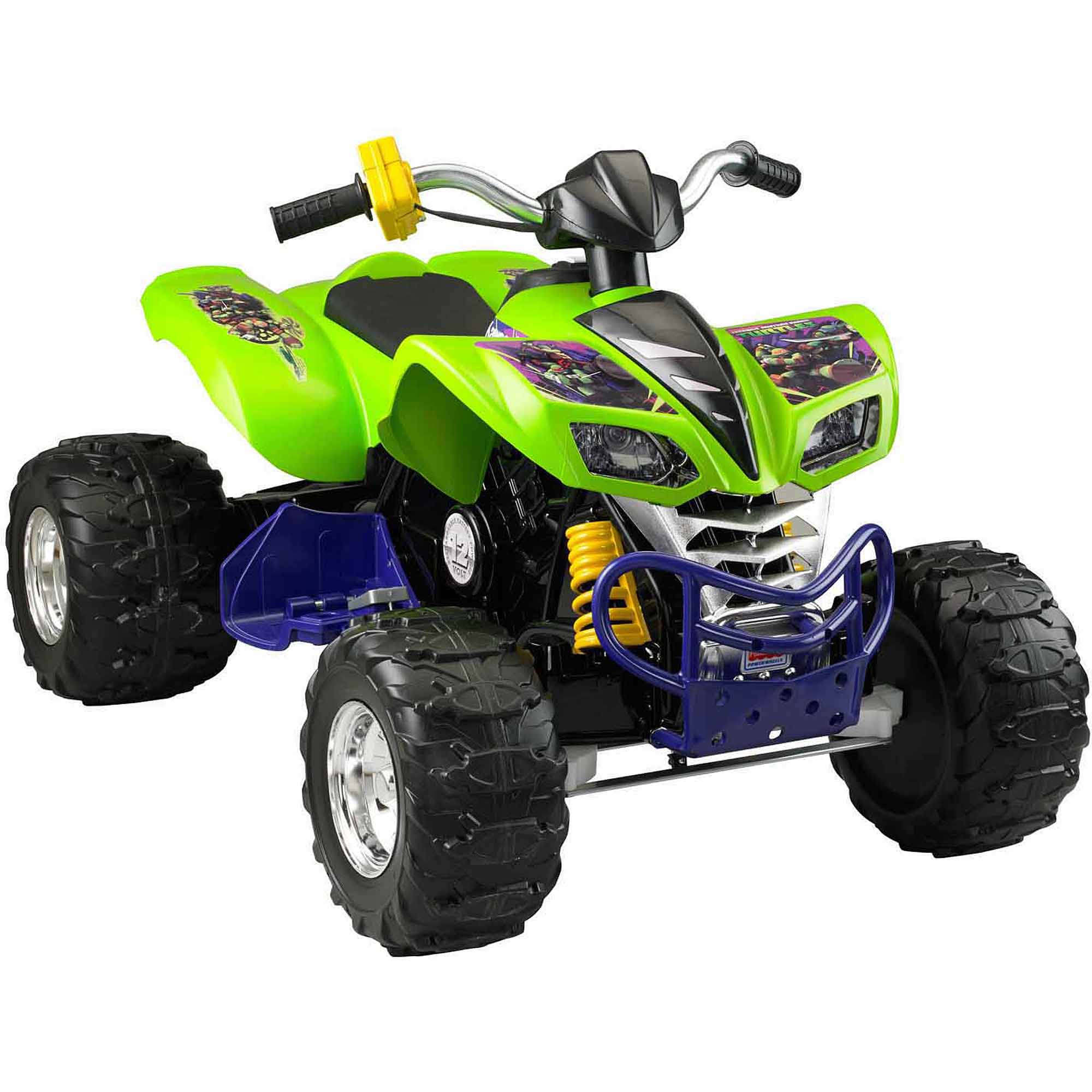 Fisher-Price Power Wheels Teenage Mutant Ninja Turtles Kawasaki KFX 12-Volt Battery-Powered Ride-On