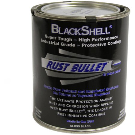 Rust Bullet Blackshell  Rust Preventative And Protective Coating  Quart