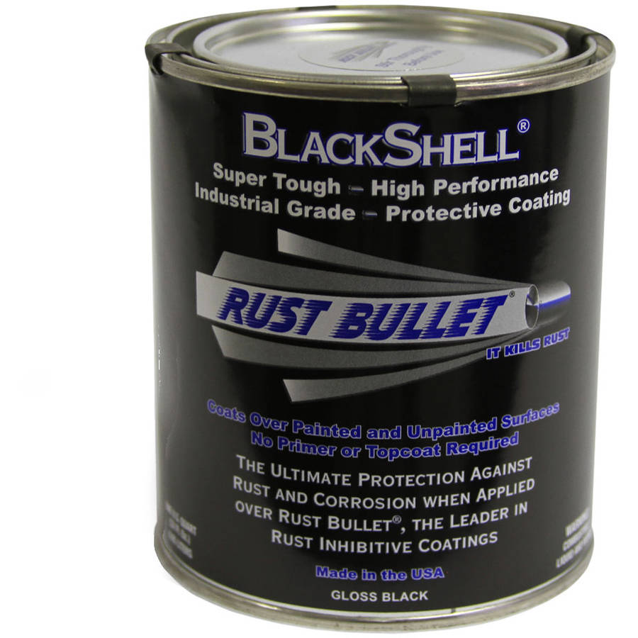Rust Bullet BlackShell, Rust Preventative and Protective Coating, Quart