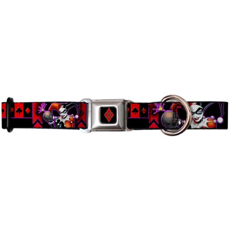 Joker DC Comics Supervillain Harley Killer Jester Seatbelt Pet Dog Cat Collar - Joker Dog