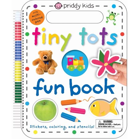 - Tiny Tots Fun Book : Stickers, Coloring, and Stencils! With Multi-Colored Pen