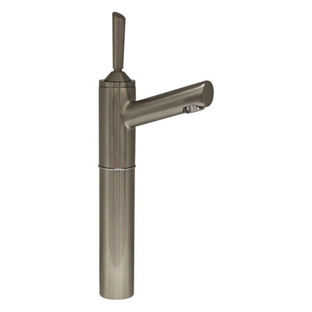 Whitehaus 3-3345-BN Centurion Single Hole Stick Handle Elevated Lavatory Faucet with 7 in. Extension and Short Spout - Brushed Nickel (Faucet Spout Extension)