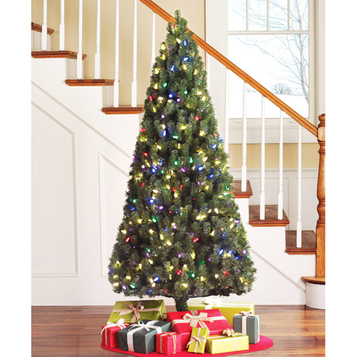 Holiday Time Pre,Lit 6.5\u0027 LED Color,Changing Artificial Christmas Tree,  White and Multi,Color Lights