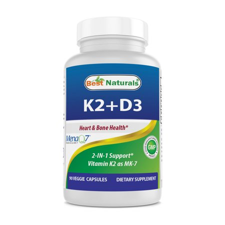 Best Naturals K2 D3 Vitamin Supplement 90 Veggie