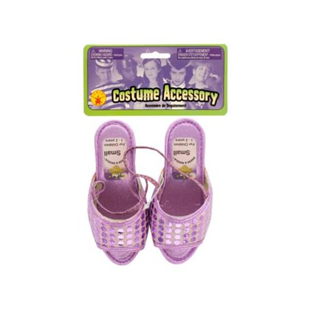Kole Imports PC327-80 Small Dress & Dazzle Girls Lavender Sequin Dot Shoes - Pack of 80 (Imported Dresses)