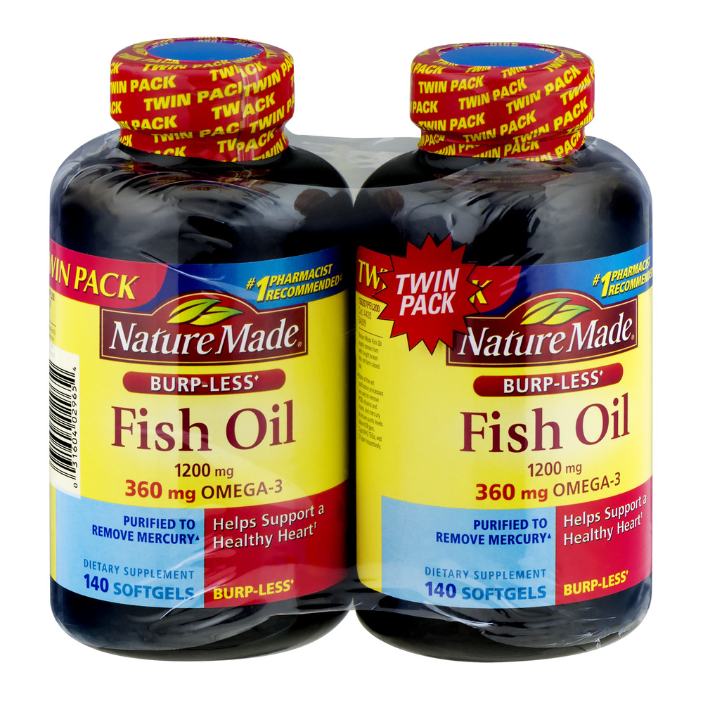 Nature Made Twin Pack Fish Oil  1200 mg Softgels - 280 CT
