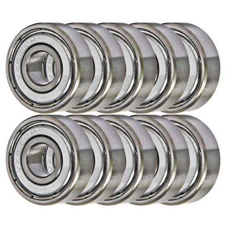 608ZZ Bearing 8x22x7 Shielded Miniature Ball Bearings (Pack of 10)