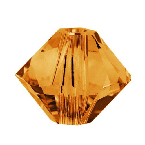 Swarovski Crystal, #5328 Bicone Beads 3mm, 25 Pieces, Topaz