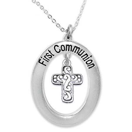 The Perfect Gift First Communion Hypoallergenic Children's Necklace, Safe-Nickel, Lead, & Cadmium - First Communion Gift For Girls