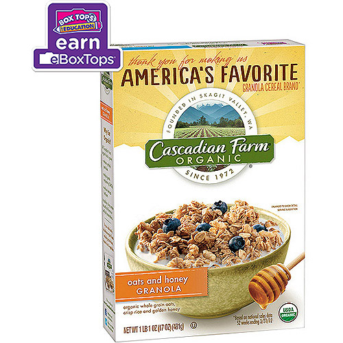 Cascadian Farm Organic Oats & Honey Granola, 17.0 OZ