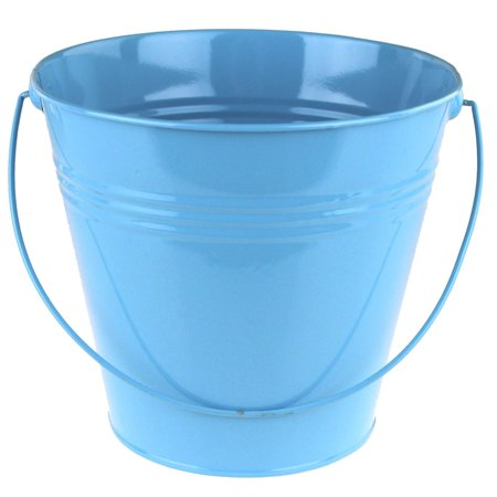 Metal Pail Buckets Party Favor, 7-Inch - Colored Metal Buckets