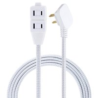 Cordinate Designer Extension Cord, 3-Outlet, Gray, 8 ft. Cord