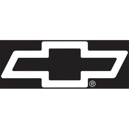 Chroma 4302 Chevy Logo Cutz Rear Window Decal 26 x 9.5 in. (Chevy Avalanche Rear Window Decal)
