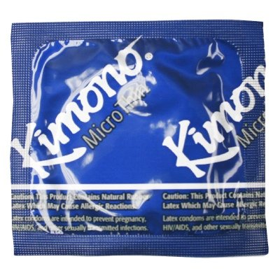 Microthin Condoms 12 Pack, New, improved! The thinnest latex condom in the U.S. featuring a new shape. Designed for the discrim By Kimono